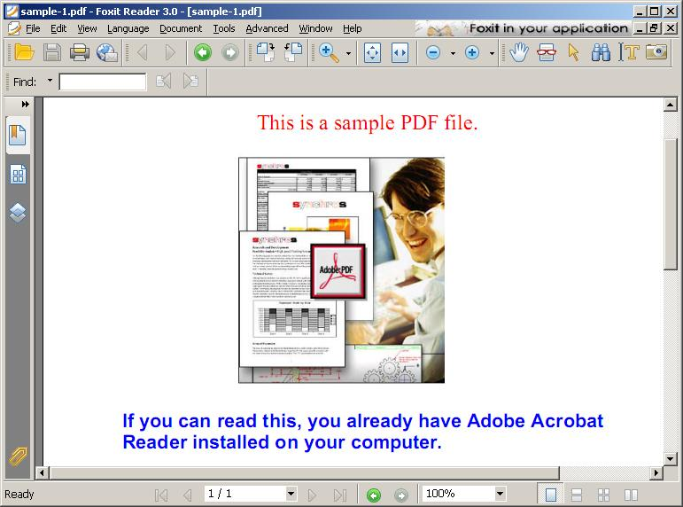 Foxit Reader Screenshot